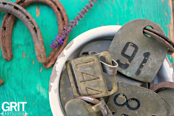 Vintage Cow Tags