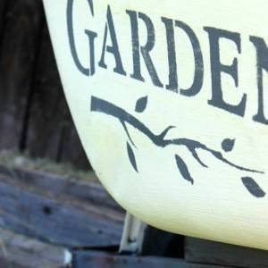 Funky Junk Interiors Old Sign Stencil Garden Themed Launch With Fusion Mineral Paints-Blog Hop & Giveaway