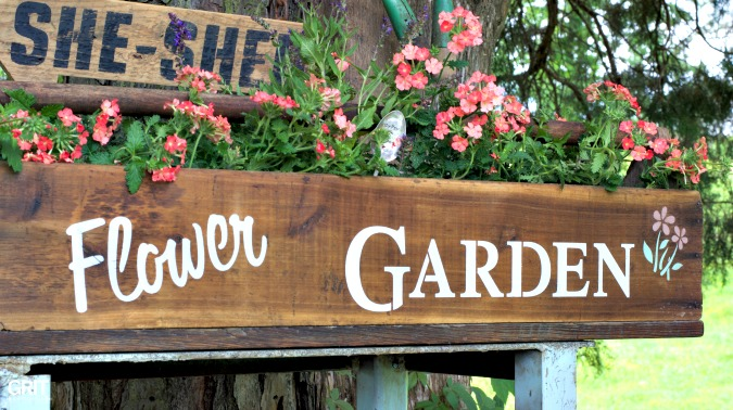 Old Tool Box makeover using Funky Junk Interiors Old Sign Stencils & Fusion Mineral Paints