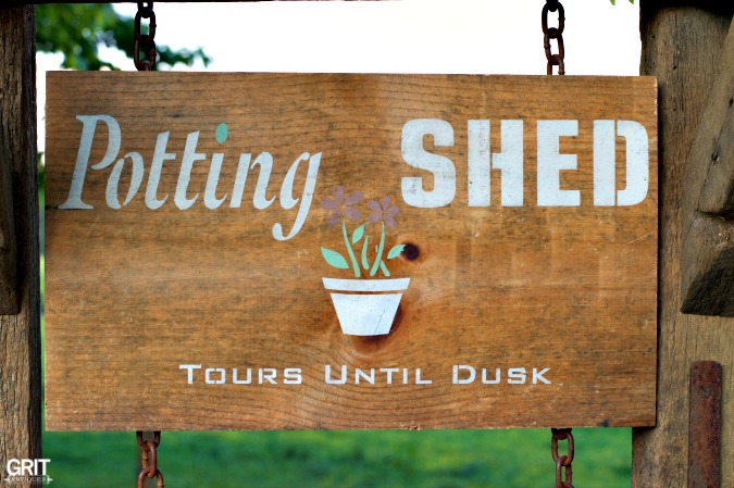 Perfect Stencil for Your Garden...Potting Shed