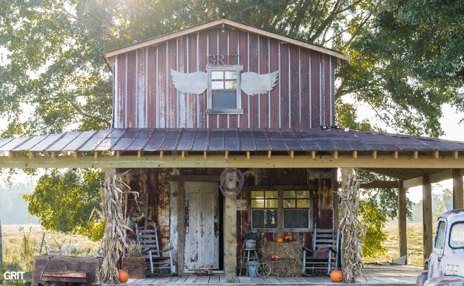 Fall Porch Decorating. Update on building our barn and decorating the porch for Fall.