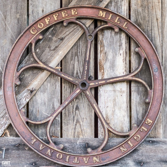 Antique Haul|Coffee Mill Wheel