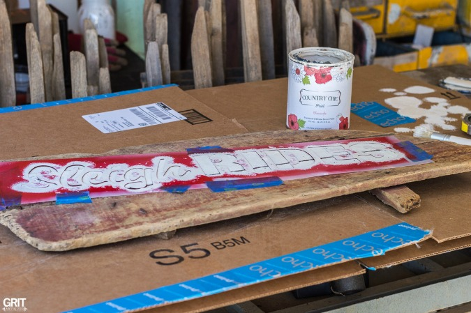 DIY|Making an old Christmas Sleigh Sign using Funky Junk's Old Sign Stencils