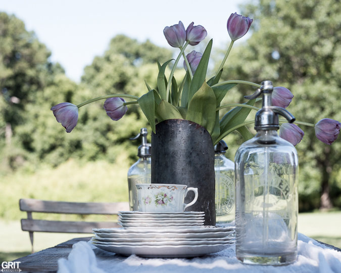 Vintage Summer Table Setting