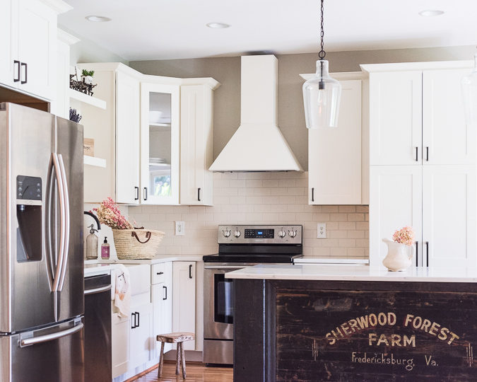 DIY Farmhouse Kitchen. Creating our own kitchen island & coffee bar