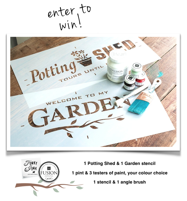 Enter To Win Funky Junks Old Sign Stencil Fusion Mineral